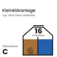 16 EW Kleinkläranlage, Sano Clean Classicline, Ablaufklasse C