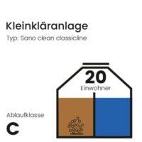 20 EW Kleinkläranlage, Sano Clean Classicline, Ablaufklasse C
