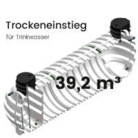 39,2 m³ Behälter mit Trockeneinstieg