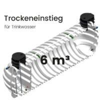 6m³ Behälter mit Trockeneinstieg